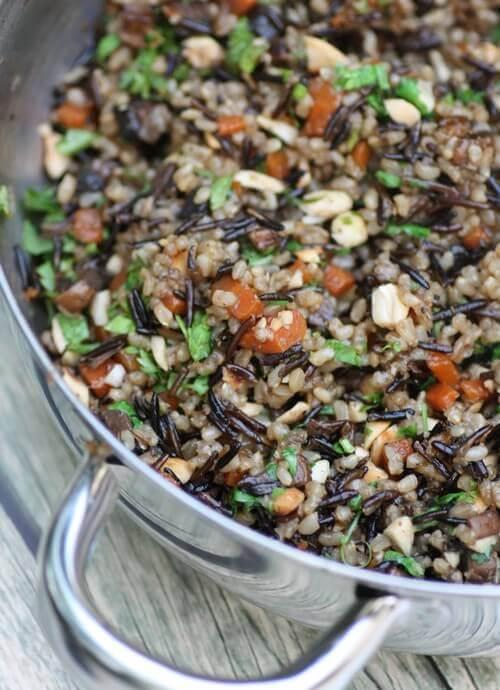 אורז מלא עם ירקות 4