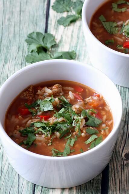 מרק פלפלים ממולאים צמחוני טבעוני
