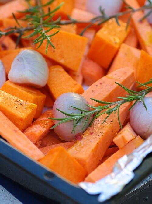 ירקות כתומים צלויים